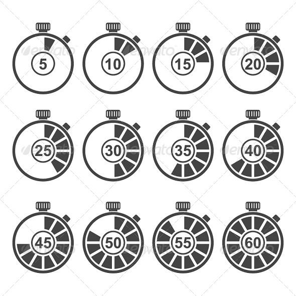 Timer Icon Set - Icons