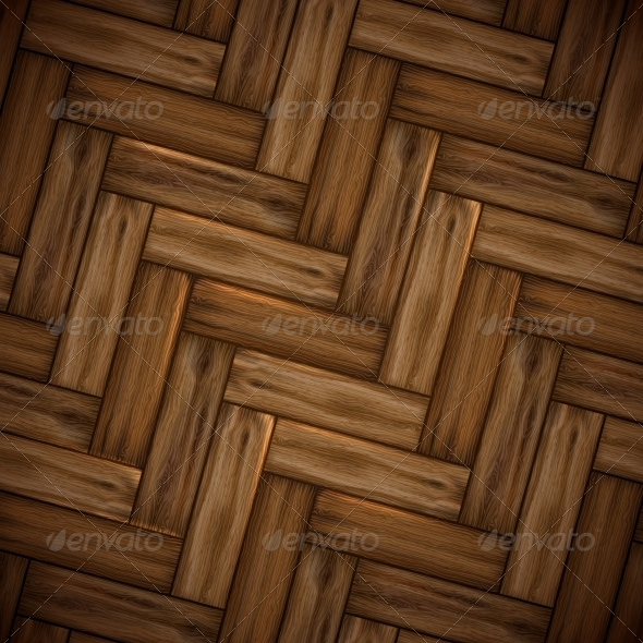 Illustrated Wood Parquet Texture - Backgrounds Decorative