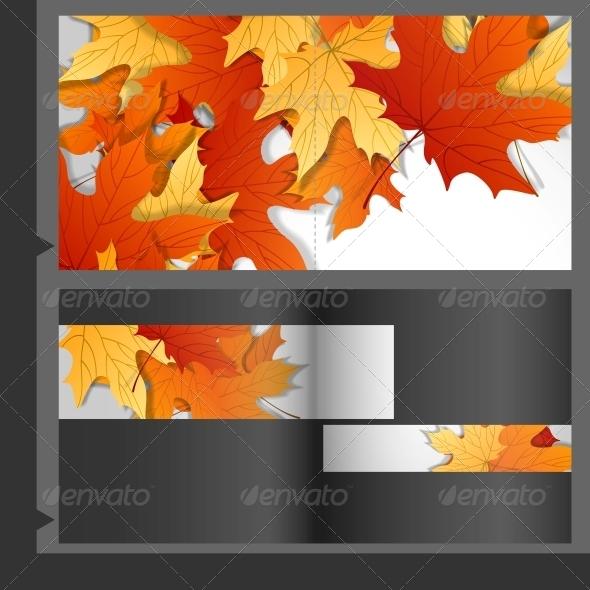 Brochure Template Design of Leaves - Seasons Nature