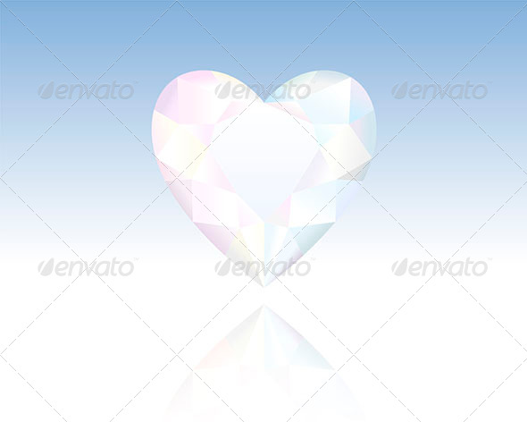 Crystal Heart - Backgrounds Decorative