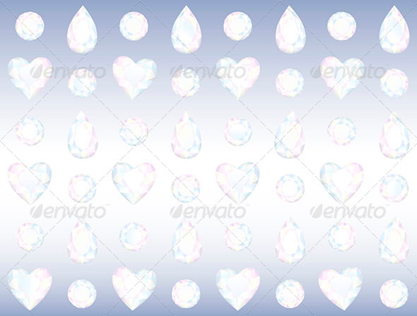Seamless Crystal Wall - Backgrounds Decorative