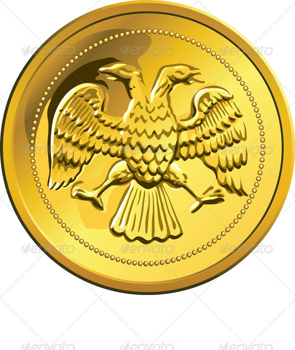 Vector Gold Coin Ruble Money Russian - Man-made Objects Objects