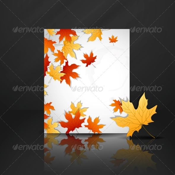 Autumn Leaves Background. - Seasons Nature