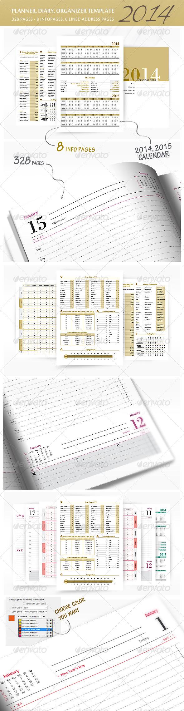 Planner-Diary-Organizer 2014 v2 - Calendars Stationery