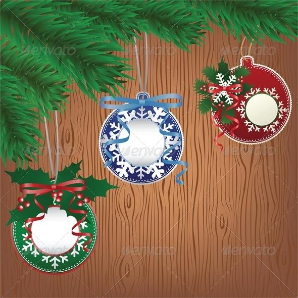 Christmas Paper Bauble on Tree - Christmas Seasons/Holidays