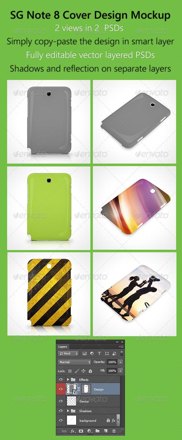 SG Note 8 Cover Design Mockup