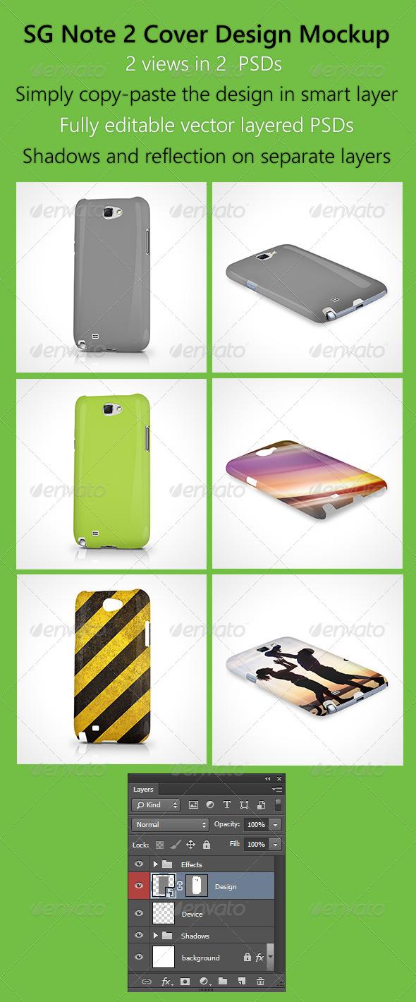 SG Note 2 Cover Design Mockup - Mobile Displays