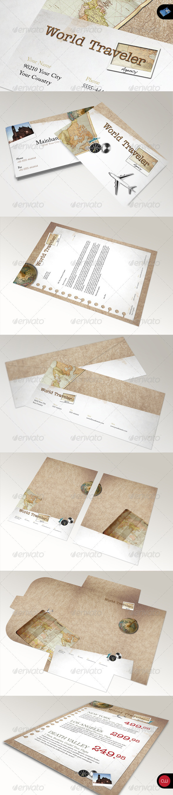 Retro Stationary Template - Vol.1 - Stationery Print Templates