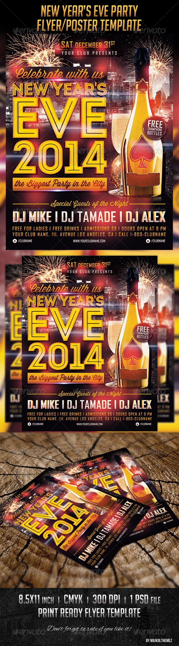 New Year's Eve Poster Template - Clubs & Parties Events