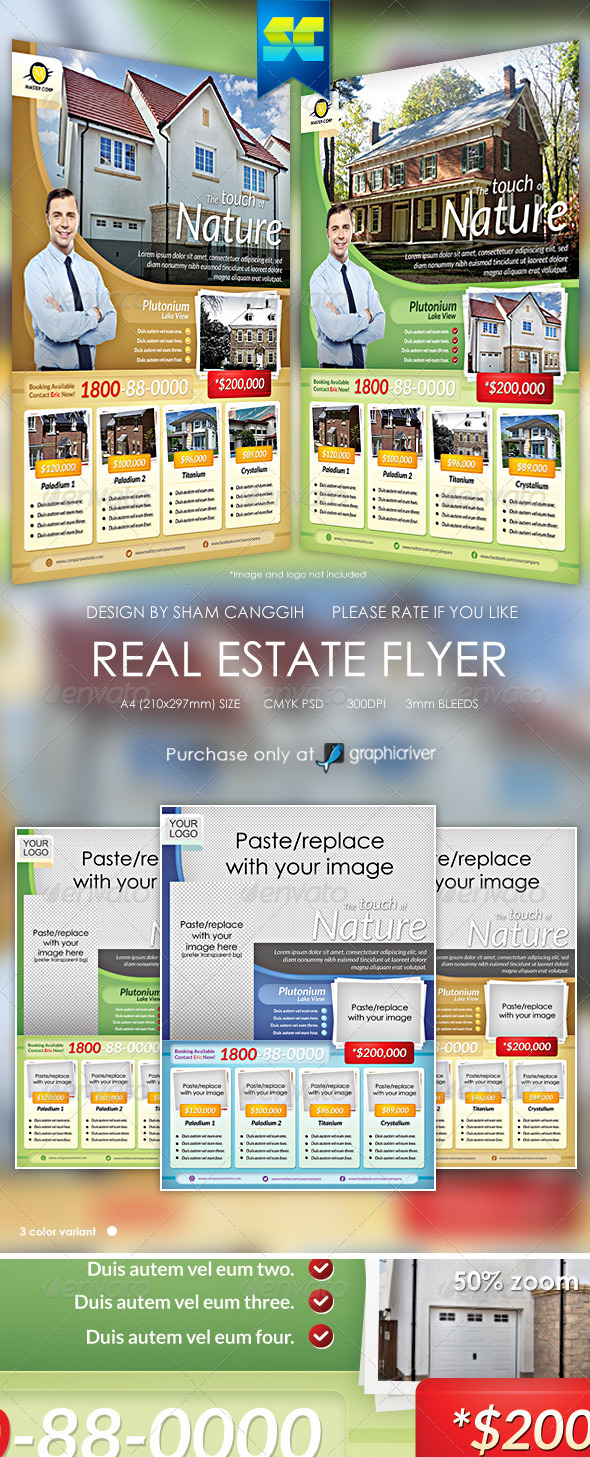 Modern real estate flyer / magazine ads - Corporate Flyers
