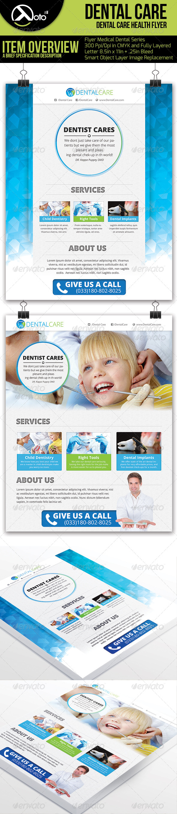 Medical Dental Care Health Flyer - Flyers Print Templates
