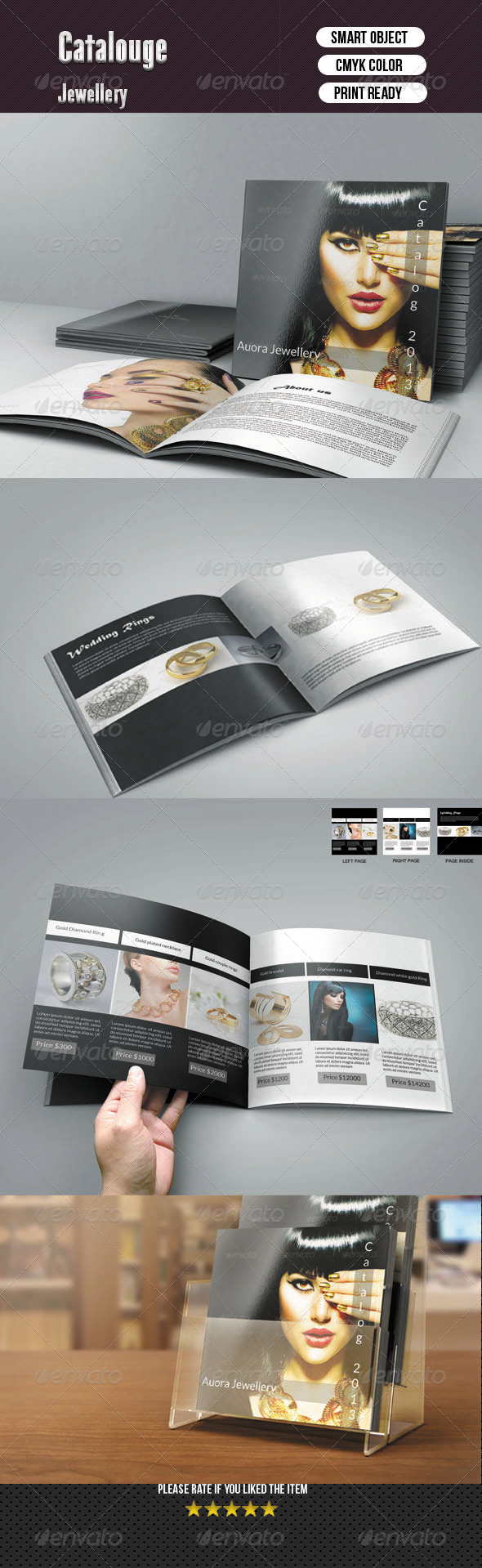Square Bifold Template - 8 Pages - Corporate Brochures