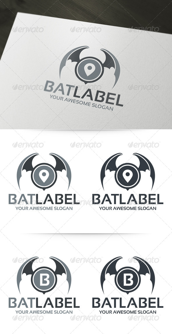 Bat Label Logo  - Abstract Logo Templates