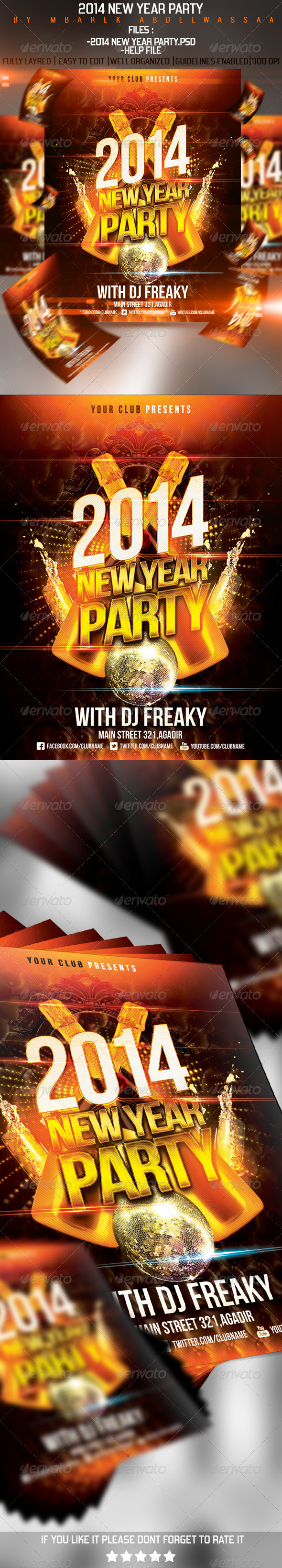 2014 New Year Flyer - Events Flyers