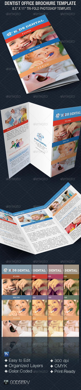 Dentist Office Tri-Fold Brochure Template - Corporate Brochures