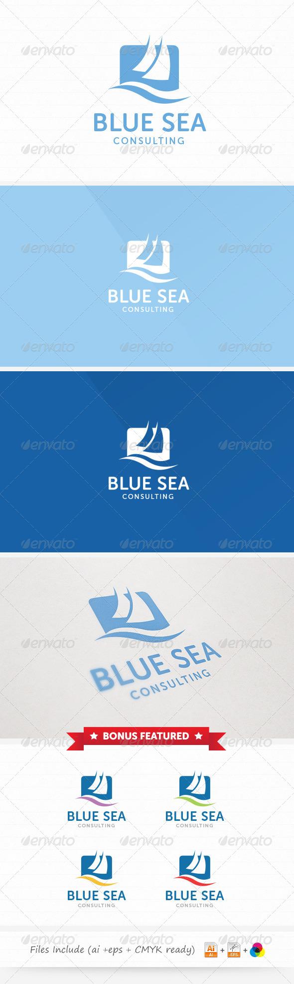 Blue Sea Consulting Logo - Abstract Logo Templates