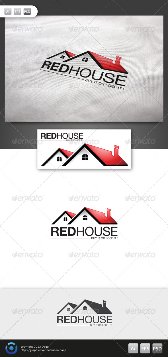 Red House Logo - 02 - Buildings Logo Templates