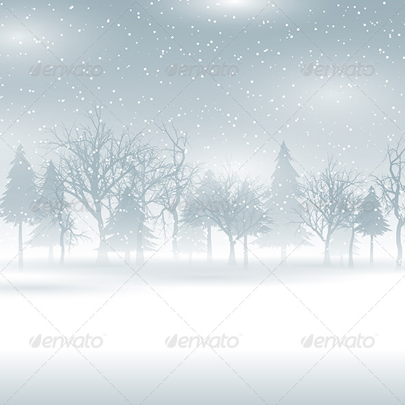 Winter Landscape - Christmas Seasons/Holidays