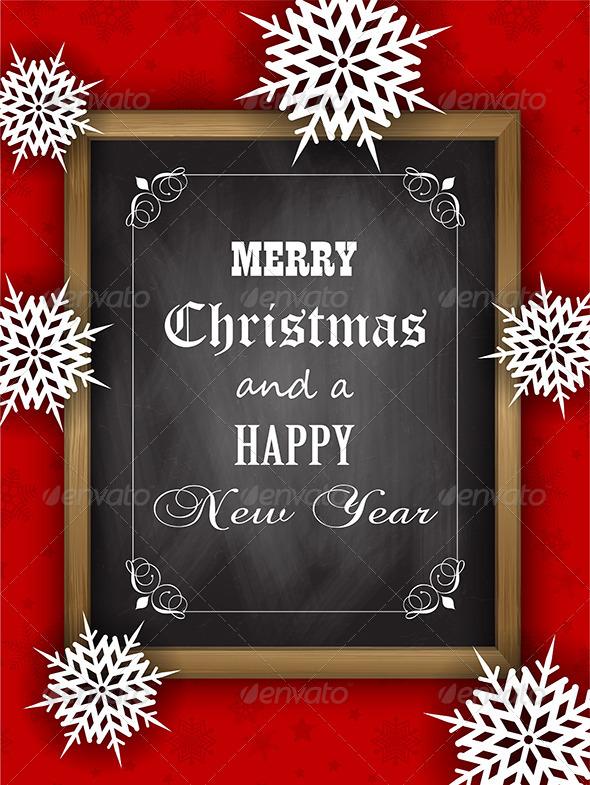 Christmas Blackboard - Christmas Seasons/Holidays