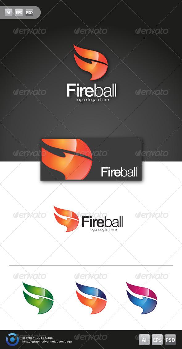 Fire Ball Logo - Symbols Logo Templates
