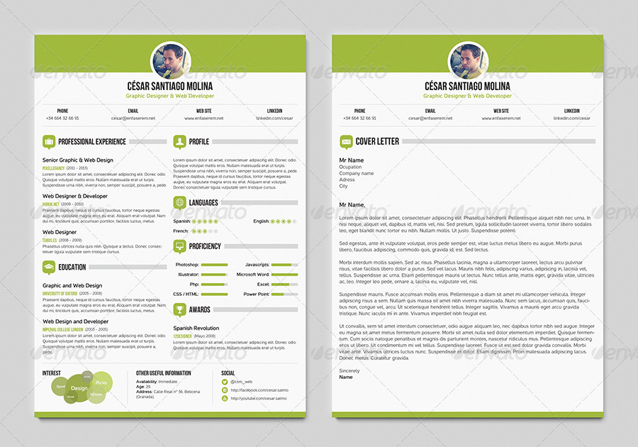 Simple Resume 3 + Cover Letter A4 and US Letter by csm_web ...