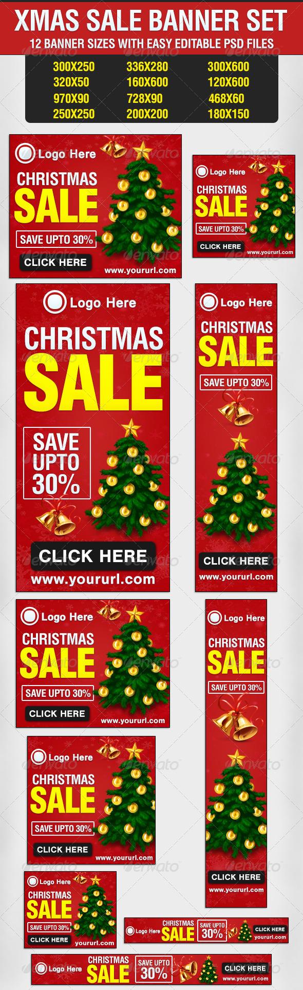 Xmas Sale Banner Set - Banners & Ads Web Elements