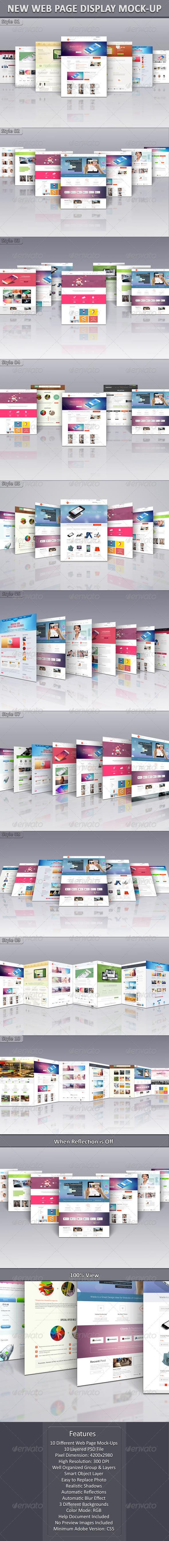 New Web Page Display Mock-Up - Website Displays