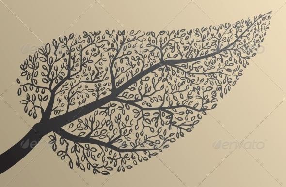 Tree Silhouettes Leaf Shape - Flowers & Plants Nature