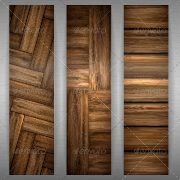 Wooden Texture Banner - Backgrounds Decorative