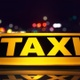 Taxi Driving Through City at Night - VideoHive Item for Sale