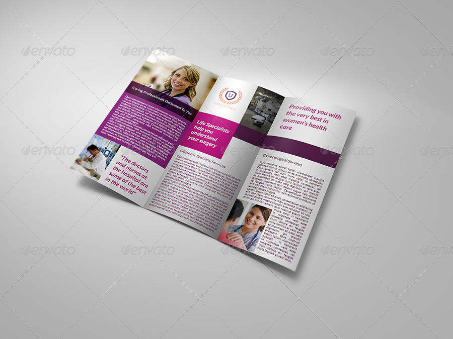 Hospital tri fold brochure template by owpictures for Tri fold brochure template indesign cs6