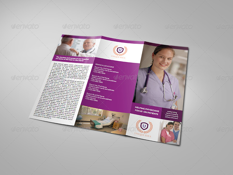 Hospital TriFold Brochure Template by OWPictures – Hospital Flyer Template