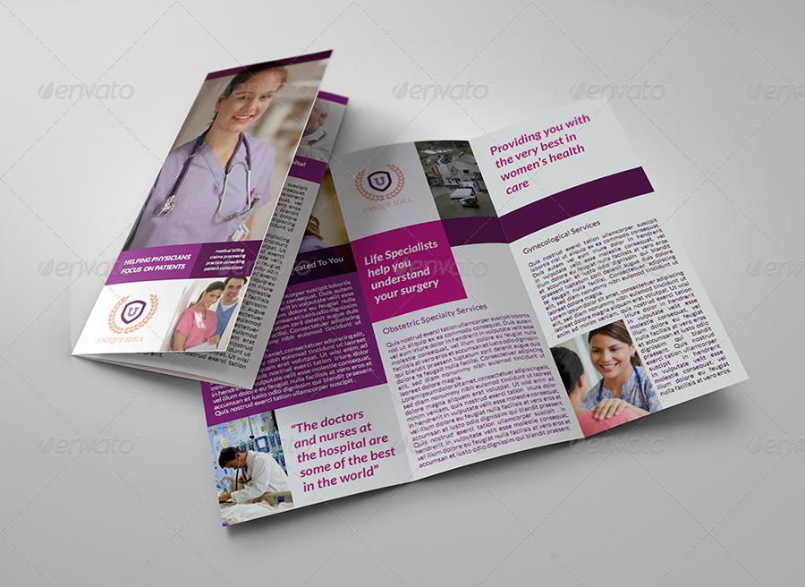hospital menu template - hospital tri fold brochure template by owpictures