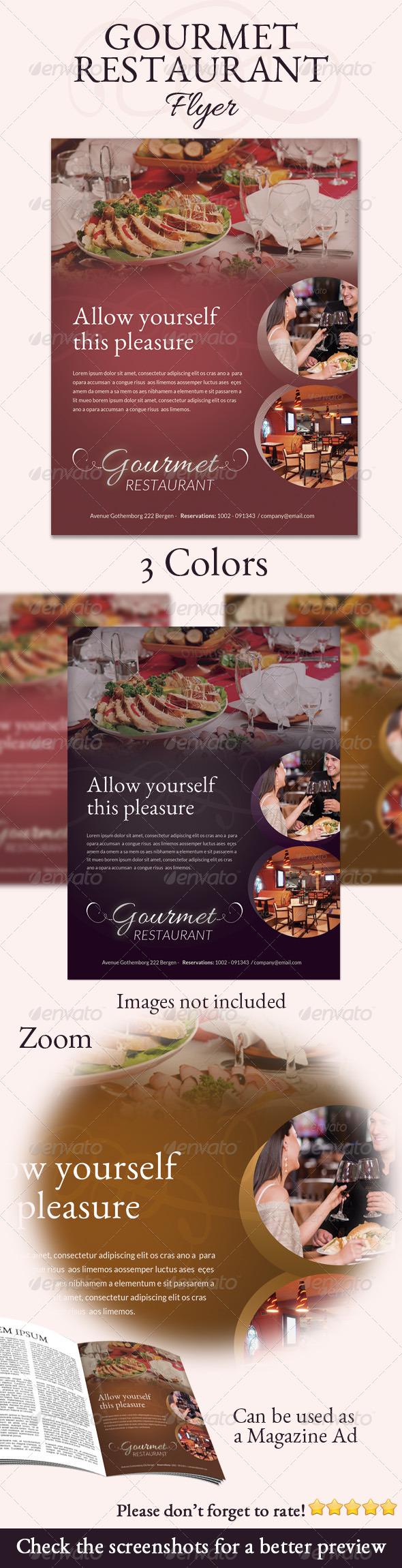 Gourmet Restaurant Flyer - Restaurant Flyers