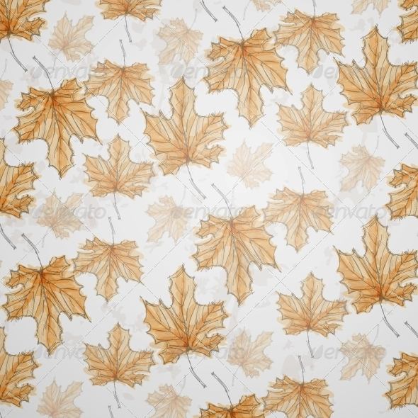 Hand Drawn Autumn Background - Seasons Nature