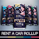 Rent A Car Roll Up Banner - GraphicRiver Item for Sale