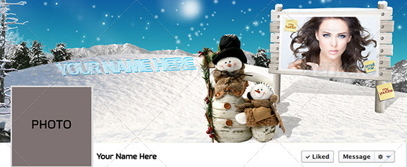 Winter Facebook Timeline PSD - Facebook Timeline Covers Social Media