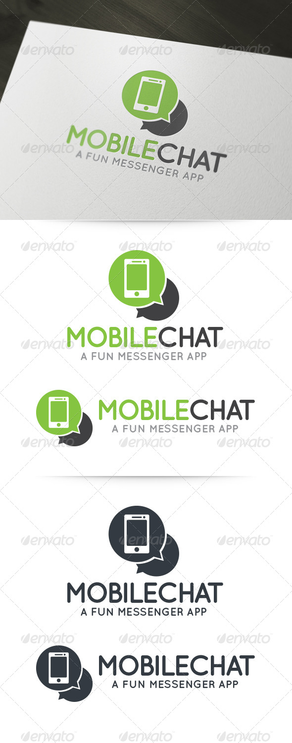 Mobile Chat Logo - Objects Logo Templates