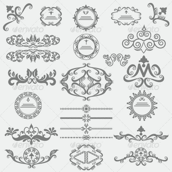 Vintage Design Elements 86 - Decorative Vectors