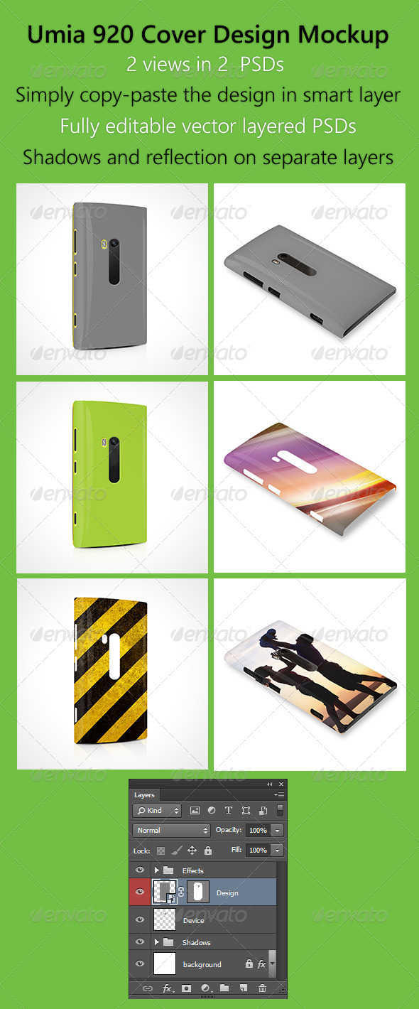 Umia 920 Cover Design Mock-Up - Mobile Displays
