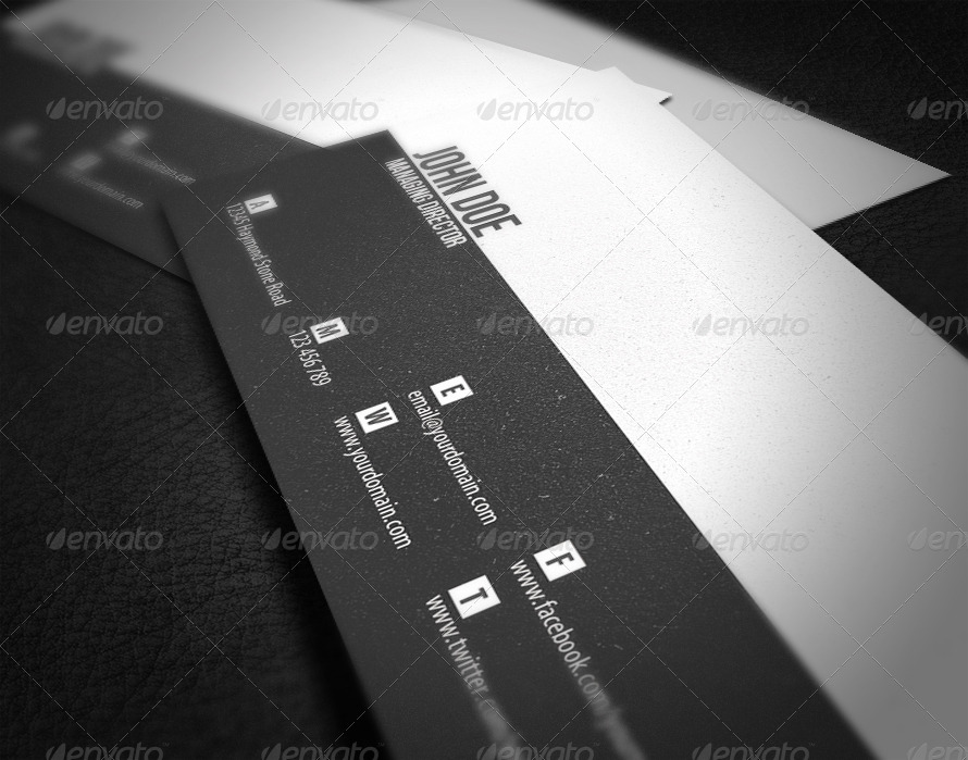 Minimal business card by glenngoh graphicriver minimal business card colourmoves