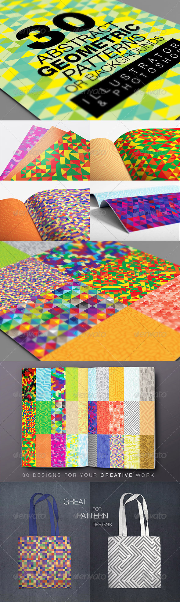Abstract Geometric Backgrounds V.1 - Backgrounds Decorative
