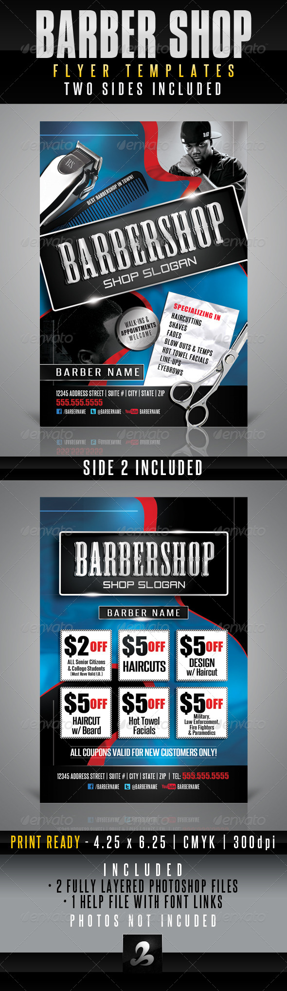 Barbershop Flyer Templates - Corporate Flyers