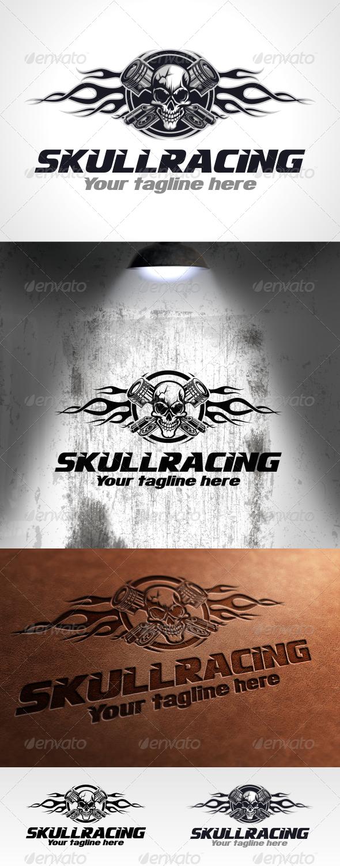 Skull Racing Logo Template - Humans Logo Templates