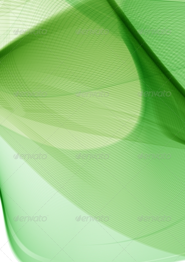 Green Abstract Background - Backgrounds Decorative
