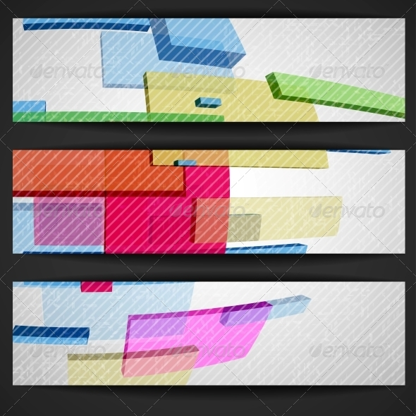Abstract Rectangle Banner - Abstract Conceptual