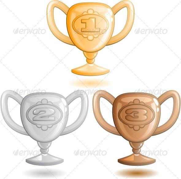 Three Cups - Decorative Symbols Decorative