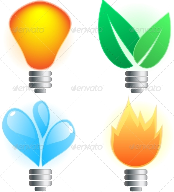 Abstract Lightbulb - Seasons Nature