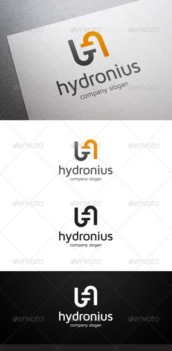 Hydronius H Letter Logo - Letters Logo Templates