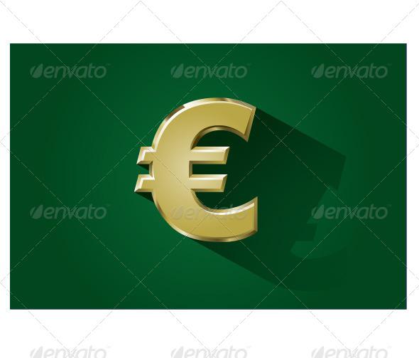 Gold Euro Symbol - Business Conceptual